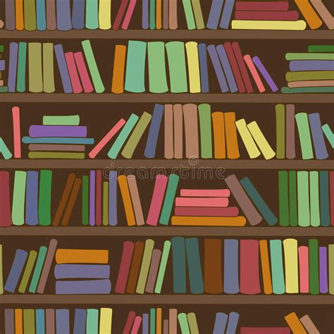 background pattern library seamless pattern of bookshelf with books stock image
