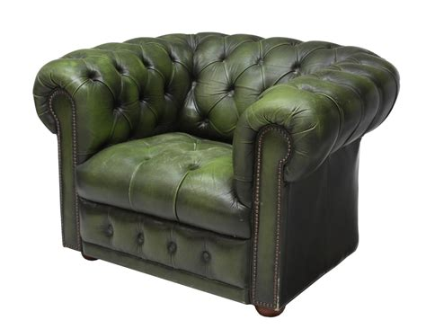 Green Leather Armchair by Chesterfield Tufted Green Leather Armchair Jo
