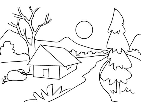scenic pictures to color