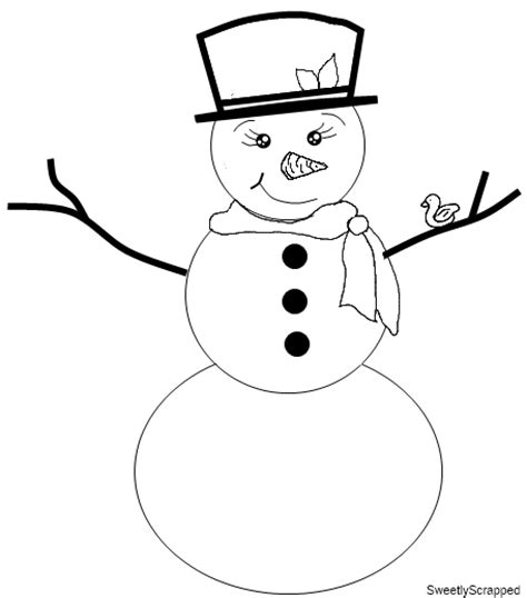 sweetly scrapped printable paper and digi snowman st