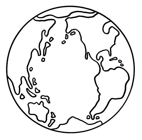 free coloring pages of world map black and white