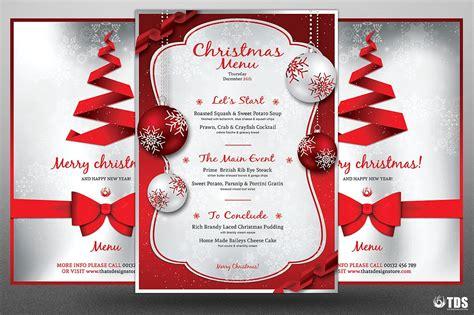 design a xmas menu 12 catering menu designs design trends premium psd