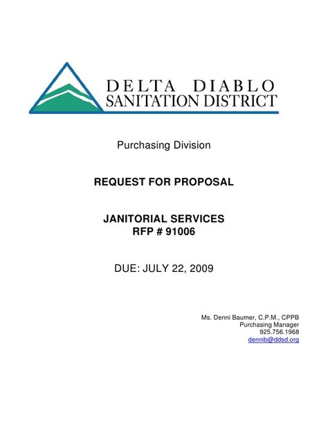 response to request for template microsoft word rfp janitorial svcs draft