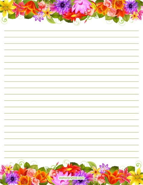 printable writing paper for spring spring stationery and writing paper notes stationery
