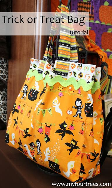 Wyldes Bag Of Tricks Treat Purse by Fabric Mill Trick Or Treat Bag Tutorial