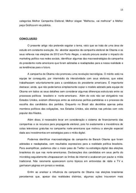 A INFLUÊNCIA DA CAMPANHA DE BARACK OBAMA NAS ELEIÇÕES