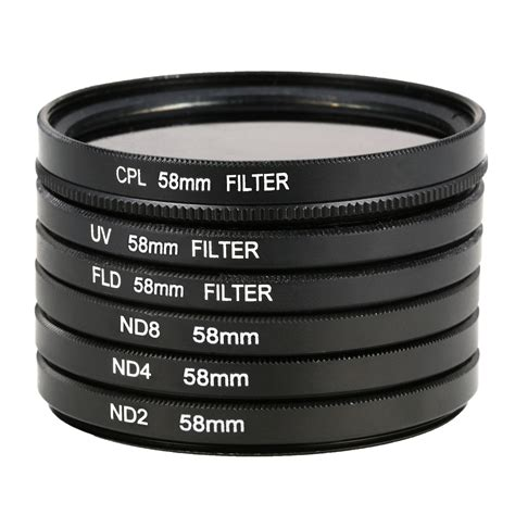 Lens Lensa Universal Model Rubber Jjc Filter Size 55mm 55 Mm uv cpl pld nd2 nd4 nd8 filter lens 58mm for canon 60d 600d 650d 700d lf134 ebay
