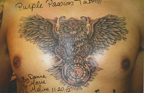 owl chest tattoo owl tattoos designs ideas and meaning tattoos for you