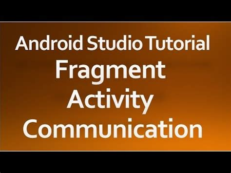 android studio fragment tutorial android studio tutorial 41 fragment activity