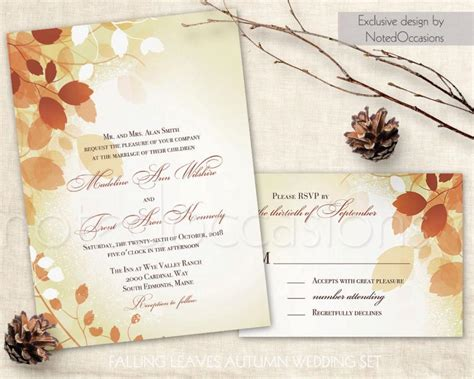 Fall In Wedding Invitations
