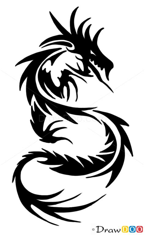 learn how to draw a dragon tattoo tattoos step by step how to draw chinese dragon tribal tattoos