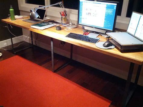 make your own desk using modern table legs