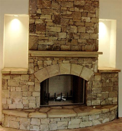 fireplace with stacked stone natural stone photos