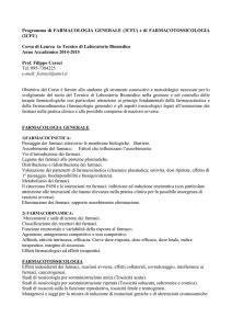 Chimica farmaceutica e tossicologica 1 e