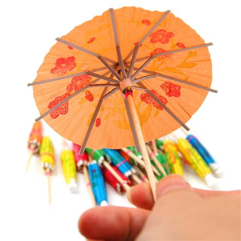 umbrella drink 24 coloured paper cocktail umbrellas parasols drink