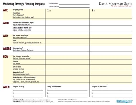 marketing planner template marketing strategy template peerpex