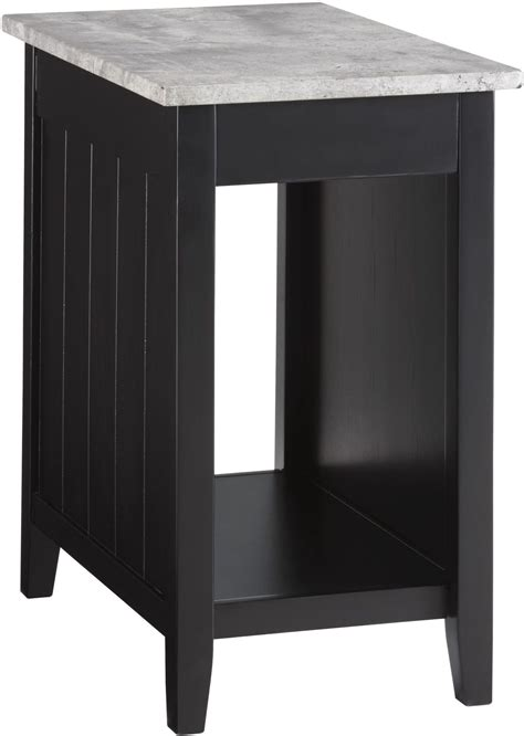 chair and end table diamenton black and gray chair side end table from