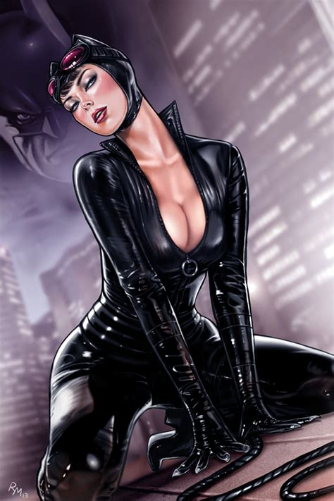 Sexy Marvel Dc Pin Up Art Catwoman Batgirl Black Cat Power Girl More