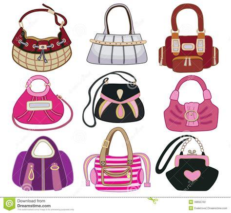 Bag Fashion Atr collection og fashion handbag stock vector illustration