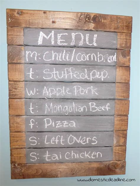 rustic kitchen menu rustic chalkboard menu board