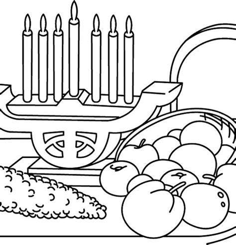 coloring pages for kwanzaa candle holder kwanzaa candles and food coloring page kids pinterest