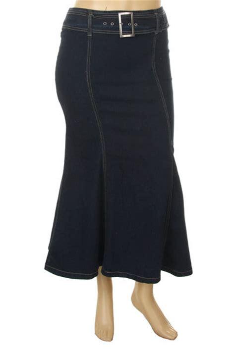 jr s plus 1x 2x 3x blue black denim jean skirt w