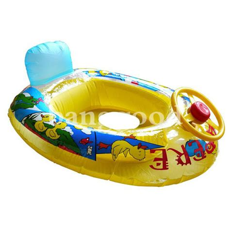 kid boat horn wheel horn kids swim ring seat float baby boat inflatable