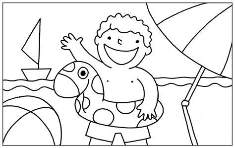 imagenes para pintar vacaciones invierno im 225 genes con dibujos de verano para pintar colorear im 225 genes