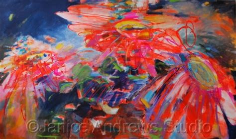 acrylic paint riot floral acrylic paintings gerbera riot by janice