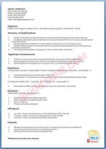 Civil Engineering Resume Sles by Engineer Cover Letter Sles Engineer Free Engine Image