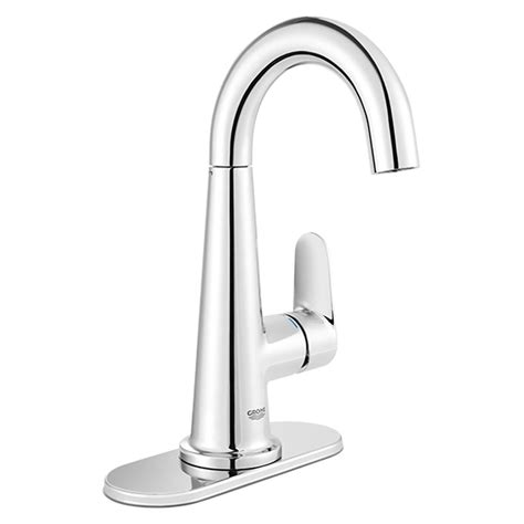 grohe bathroom sink faucets grohe veletto 4 in centerset single handle bathroom faucet in starlight chrome 23837000 the