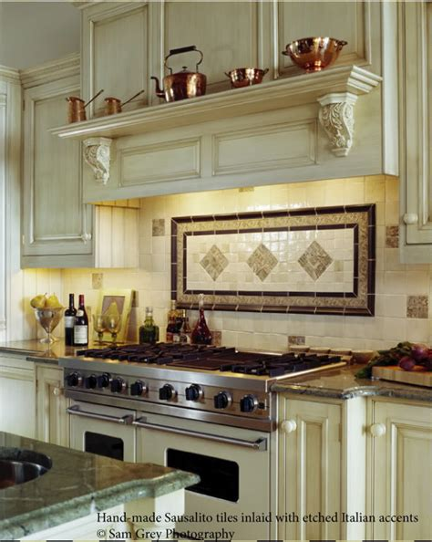 backsplash ideas for the range bronze tile