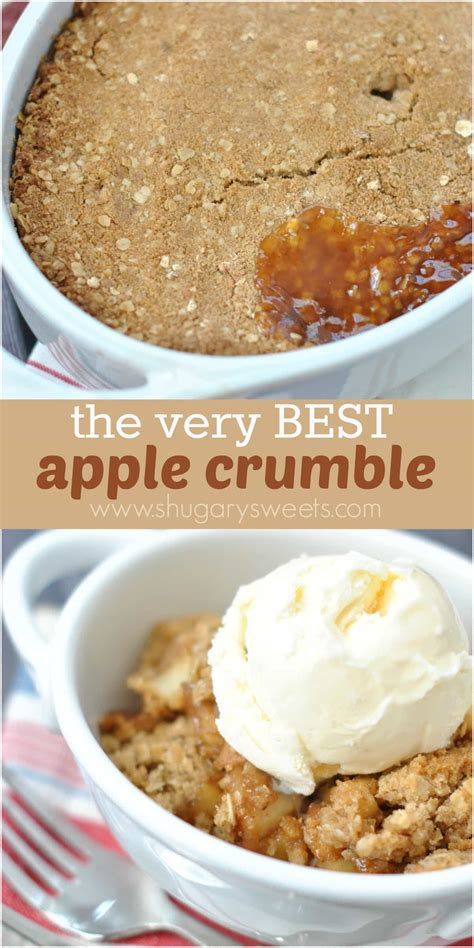 apple crumble apple crumble shugary sweets