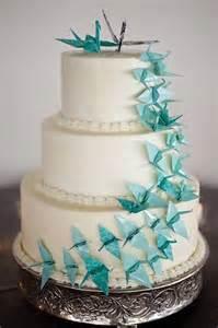 blue origami cake coisas de casamento pinterest