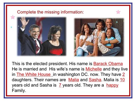 obama name barack obama and his family