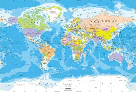 Wall Mural Map Of The World miller world political wall mural lg jpg map pictures