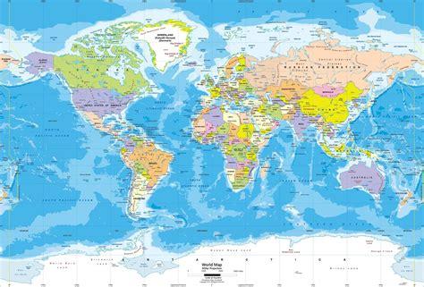 Wall Mural Maps miller world political wall mural lg jpg