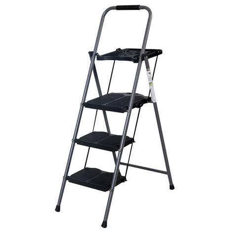 Heavy Duty 3 Step Stool by 3 Step Ladders Folding Stool Heavy Duty 330 Lbs Capacity