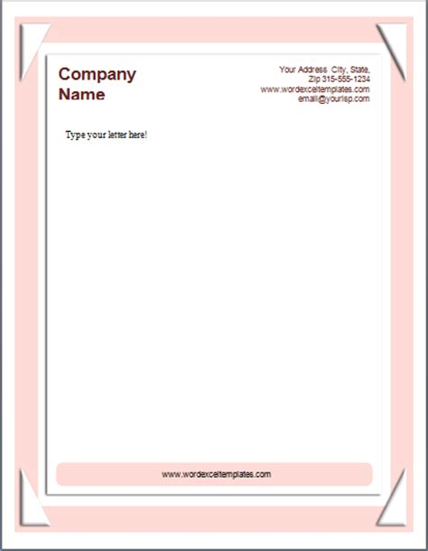 Business Letterhead Generator Ms Word Business Letterhead Templates Word Excel Templates