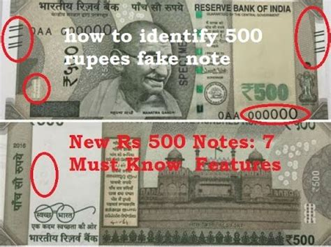 3 ways to identify new rs 500 and how to identify 500 rupees note 2016