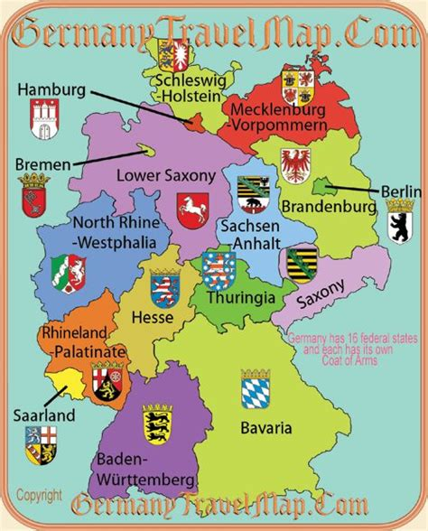 map german states maps us states and germany on