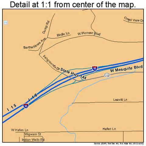 mesquite nevada map 3246000