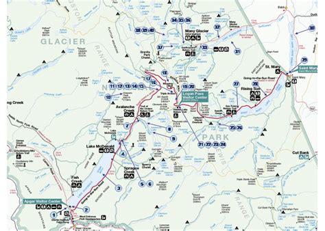 map of glacier national park glacier national park tour
