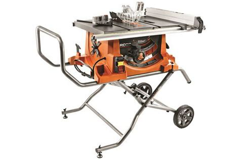 portable table saw reviews ridgid r4513 heavy duty portable table saw with stand