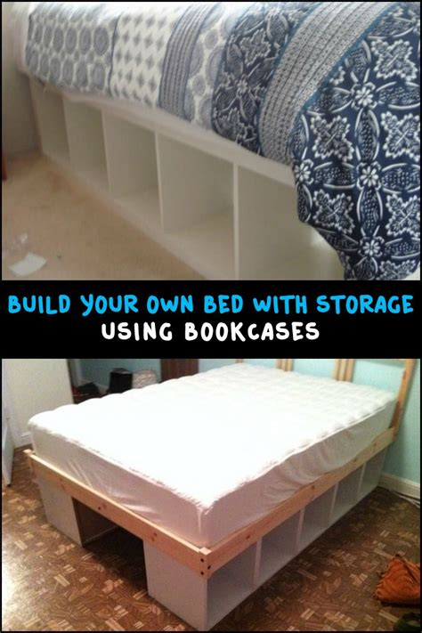 Bookshelf Bed Frame Diy Bed Frame With Bookshelf