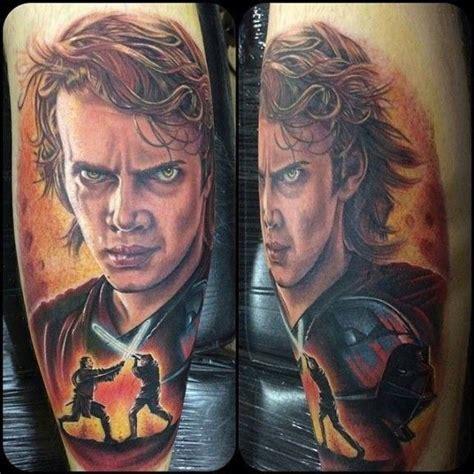luke skywalker tattoo anakin skywalker by chris jones character from