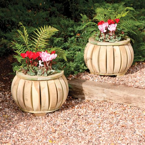 marberry planter x 2 garden planters supports