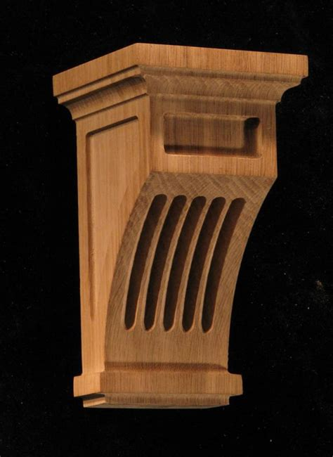 Mission Corbel Carved Wood Corbel Mission Style Fluted