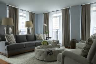 Living Room And Gray Gray Sofa Contemporary Living Room The Abode
