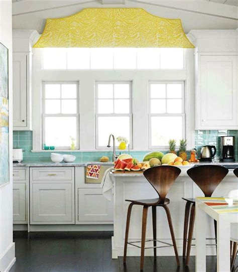 white kitchen with yellow accents bright white kitchen with turquoise and yellow accents